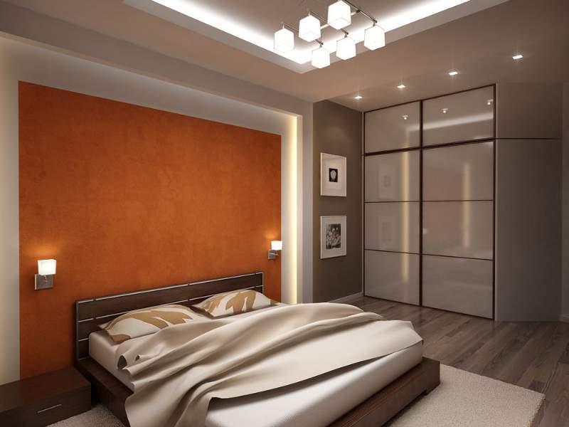 Спальня в стиле хай тек не стремится к