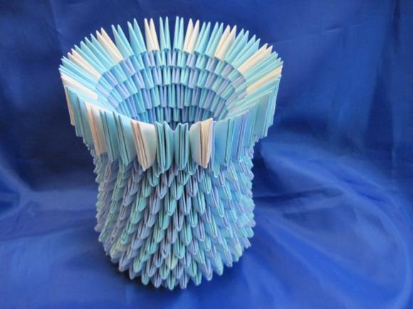Вазочки из бумаги как сделать