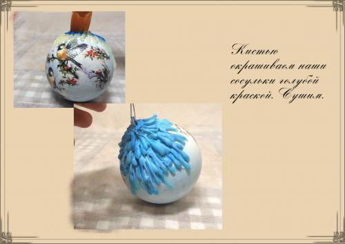 Декупаж новогодних шариков фото 8