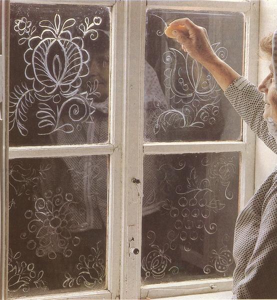 Как сделать рисунок на стекле пастой