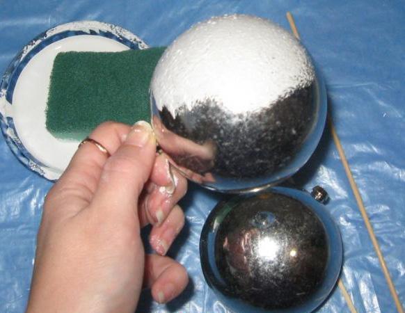 Декупаж елочного шарика 2015 фото 1