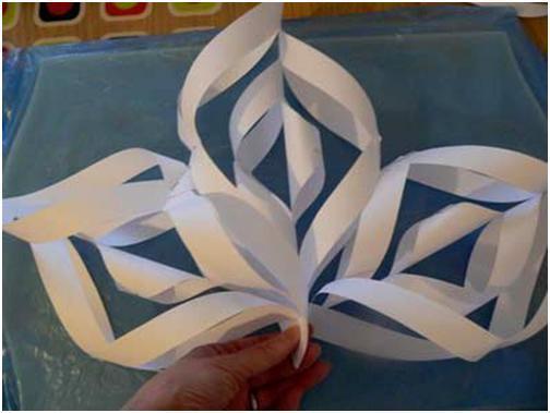 Как сделать снежинку большую из бумаги своими руками