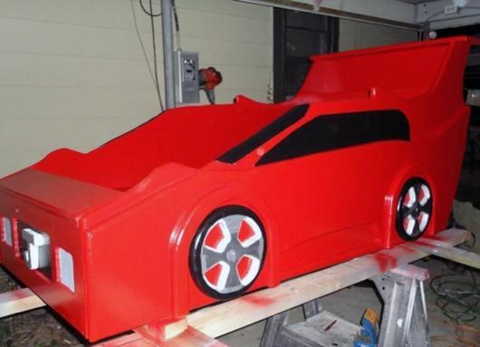 Как сделать кровать машину мастер класс