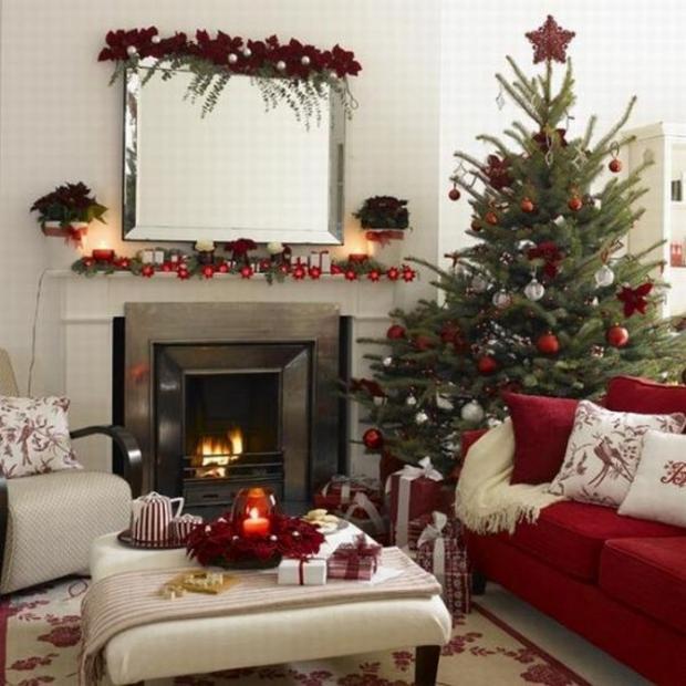 Новогодний дизайн интерьера квартиры фото