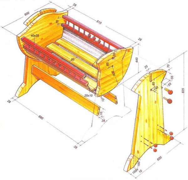 Схема кровать качалка своими руками
