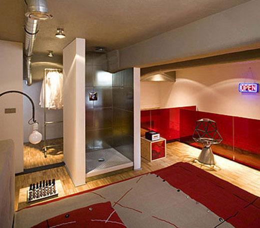Душевая кабина на кухне дизайн