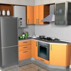 Фото кухни. Подробная информация о товаре Кухня с газовой колонкой (2