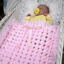 Одеяло для новорожденных связать крючком