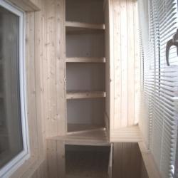 Угловые шкафы на балконе дизайн фото..