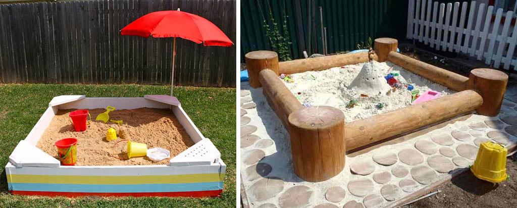 Песочницы и поделки из дерева