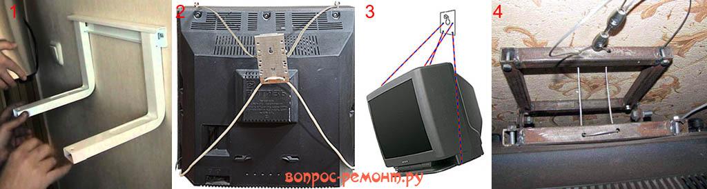 Крепления для кинескопных телевизоров своими руками