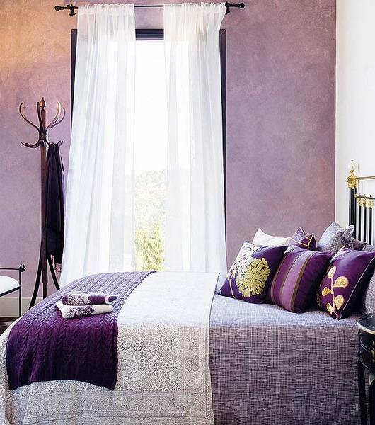 - Habitacion lila y blanca ...