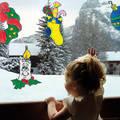 Новогодние узоры 2015 на стекле окон, зеркал и дверок шкафов