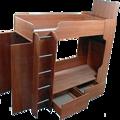 Детские двухъярусные кровати со шкафом.