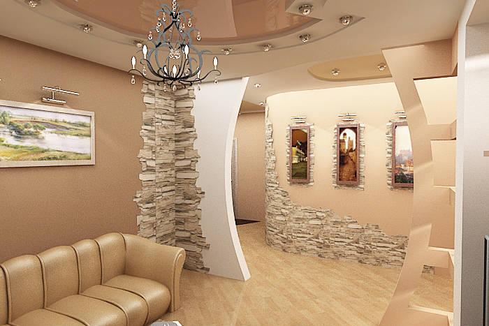 Дизайн стен искусственный камень