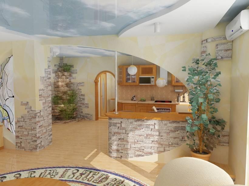 Дизайн кухни гостиной своими руками фото 66