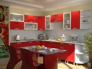 Писк моды - кухня красного цвета