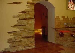 Облицовка стен камнем