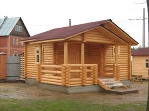 Дом или баня из оцилиндрованного бревна.