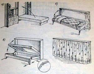 Откидная кровать своими руками для гаража или дачного домика