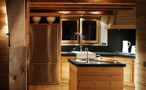 Освещение кухни в стиле шале