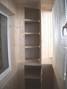 Как выбрать угловой шкаф на балкон