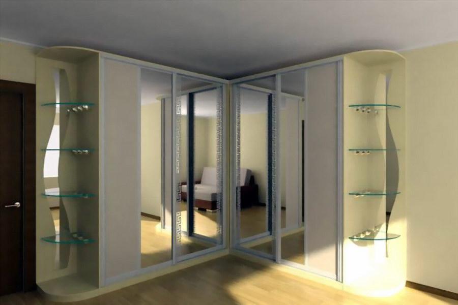 Угловой шкаф купе в спальню дизайн