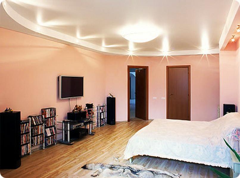 потолки натяжные в комнату фото