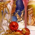 Декупаж новогодних бутылок 2015