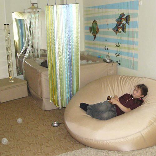 мягкие модули в сенсорной комнате для ребенка