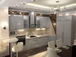 Кухня в серебряном цвете популярна как никогда
