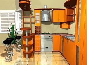 Делаем оранжевую кухню