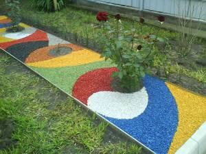 Применение декоративного гранитного щебня в ландшафтном дизайне