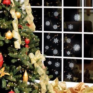 Иней и новогодние снежинки в интерьере 2015