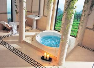 Ванная комната в античном стиле: пространство и шик