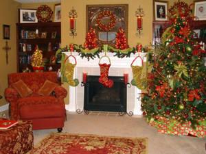 Новогодние украшения из бумаги в интерьере новогоднего дома