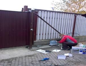 откатные ворота в Киеве